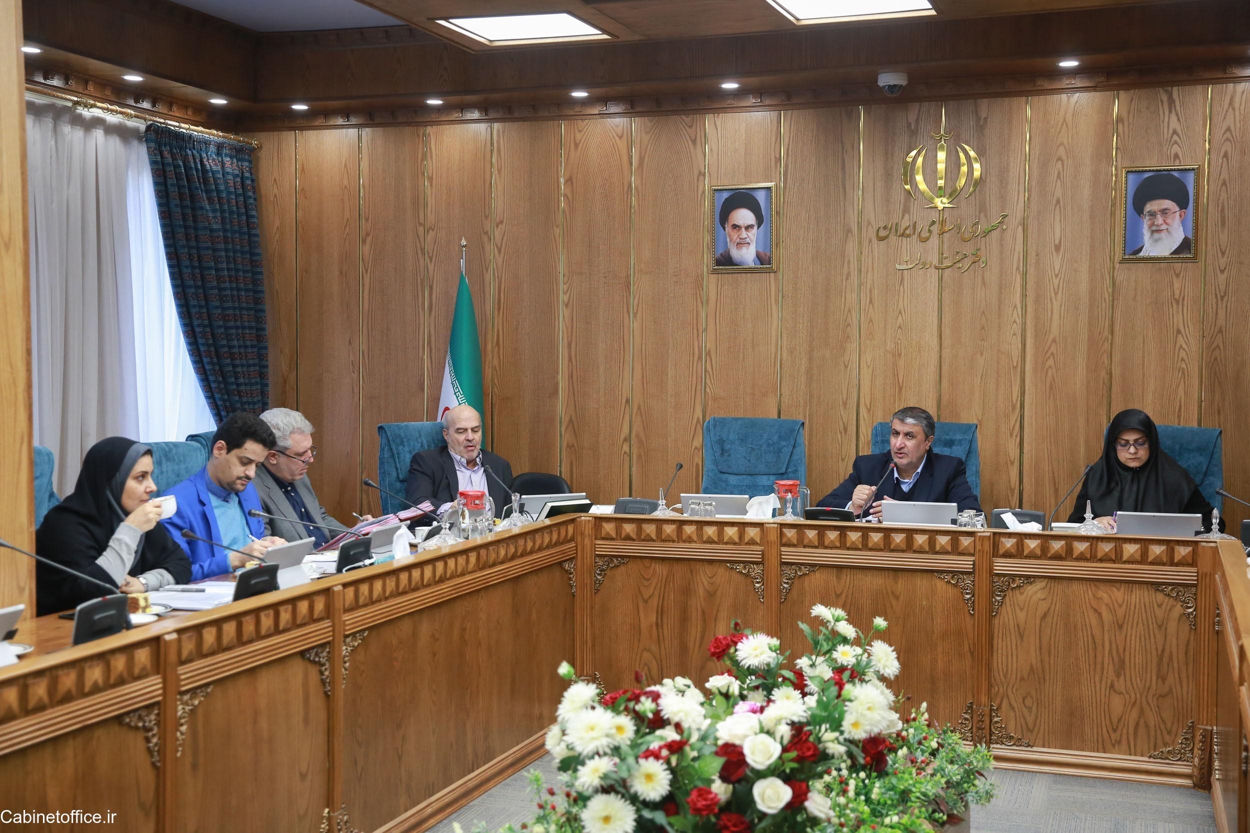تصویب تعدادی از پیشنهادات دستگاههای اجرایی در کمیسیون امور زیربنایی هیئت دولت